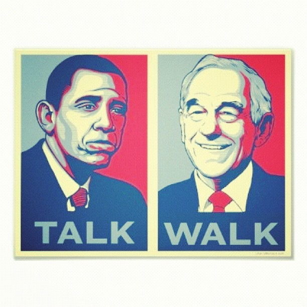 Obama vs Ron Paul Meme
