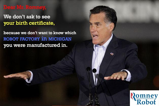 Mitt Romney Robot Meme