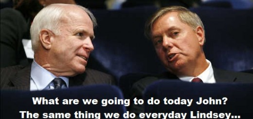 McCain and Graham talk at the Fiscal Responsibility Summit at the White House in Washington